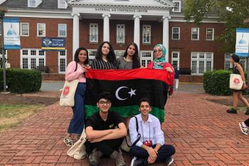 Libyan YES students